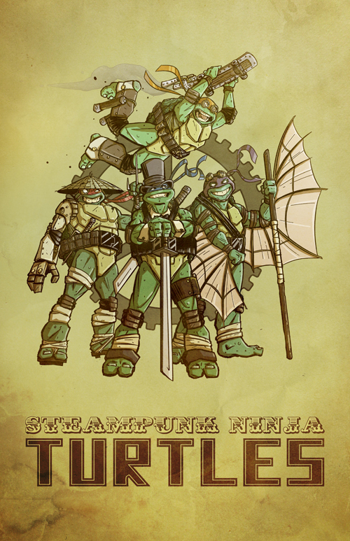 Steampunk Ninja Turtles