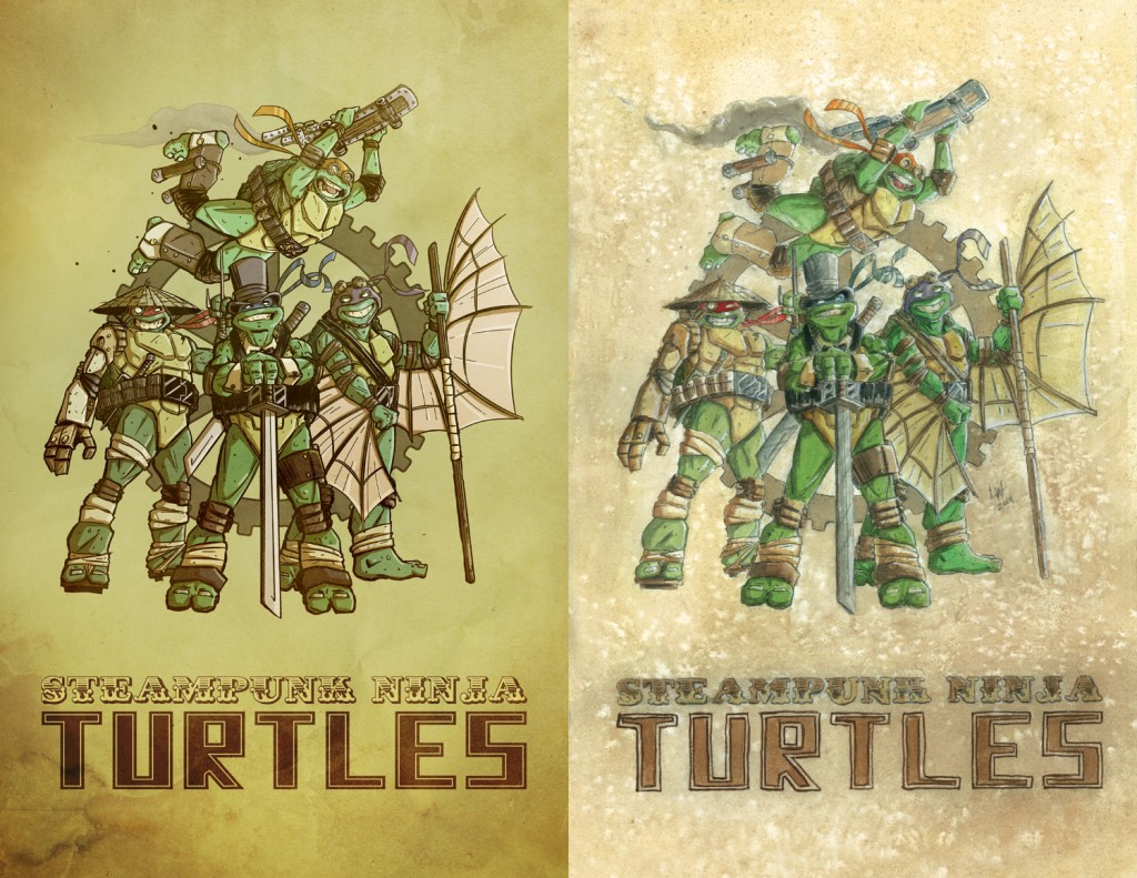 TMNT steampunk side by side